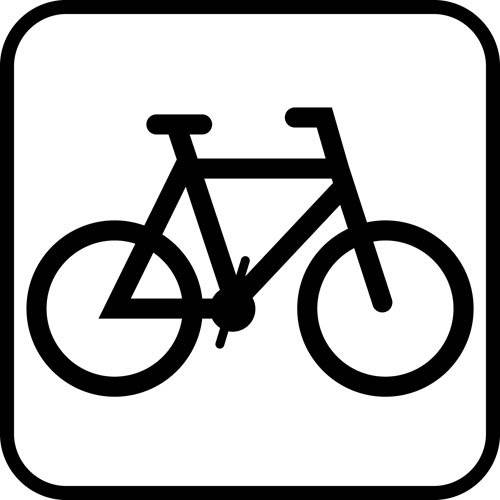 Cykel - piktogram skilt