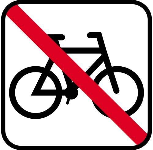 Cykel Forbudsskilt - Piktogram