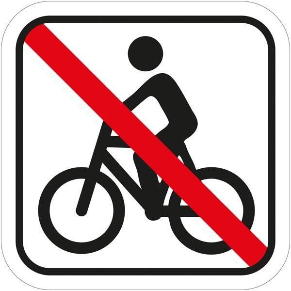 Cykel forbud Piktogram skilt