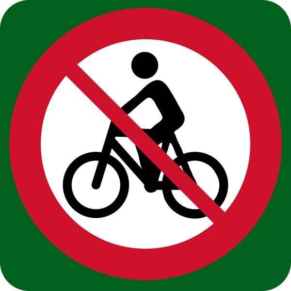 Cykel forbudt skilt