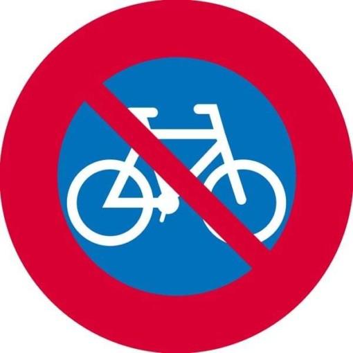 Cykelparkering forbudt skilt