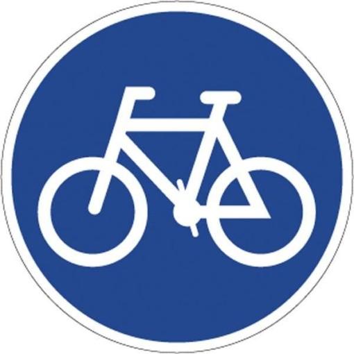 Cykelsti. Påbudsskilt