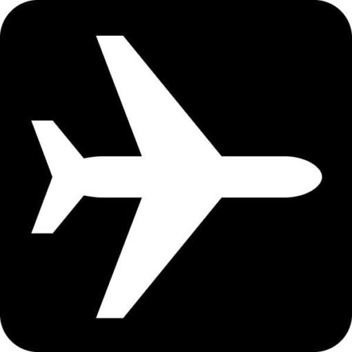 Fly. Piktogram skilt