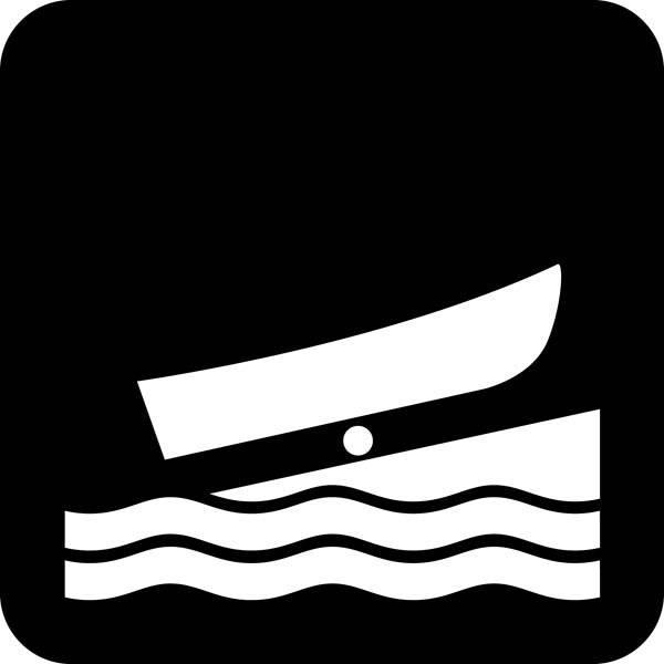 Bådplads - Piktogram skilt