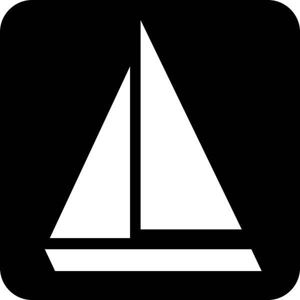 Sejlbåd. Piktogram skilt