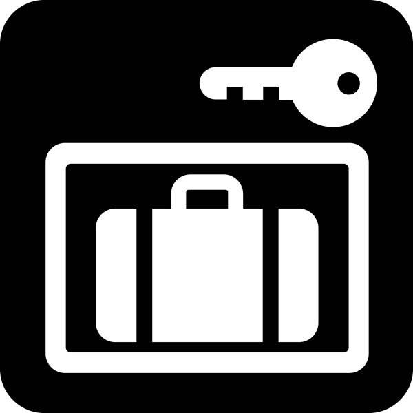 Aflåst bagagerum - Piktogram skilt