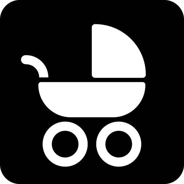 Barnevogn Piktogram skilt
