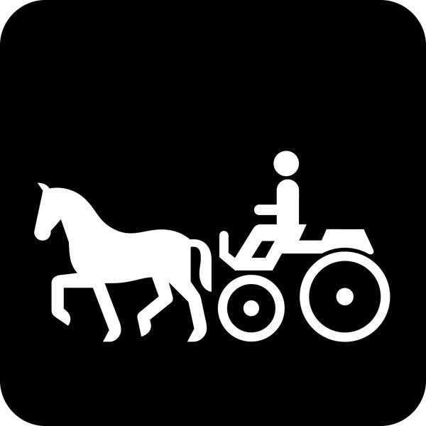 Hestevogskørsel Piktogram skilt