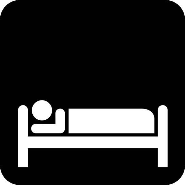 Sove mulighed Piktogram skilt