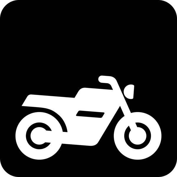 Motorcykel Piktogram skilt