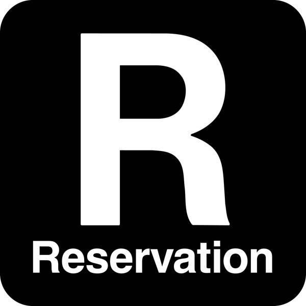 R Reservation. Piktogram skilt