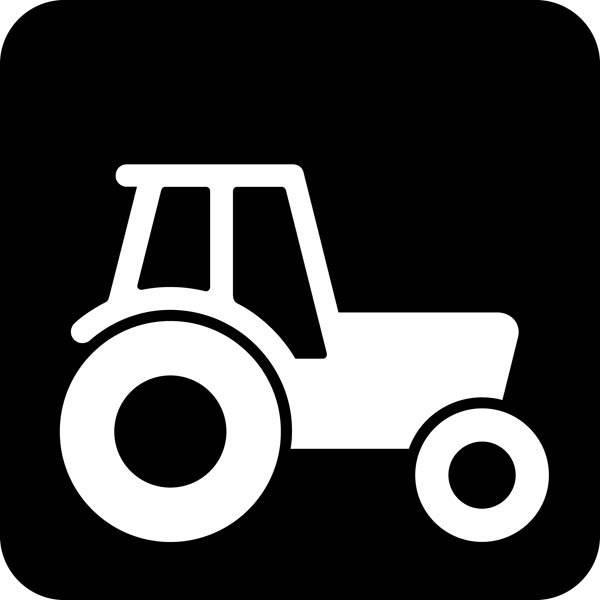 Traktor Piktogram skilt