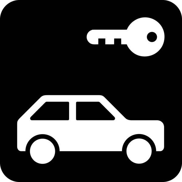 Lås bil Piktogram skilt
