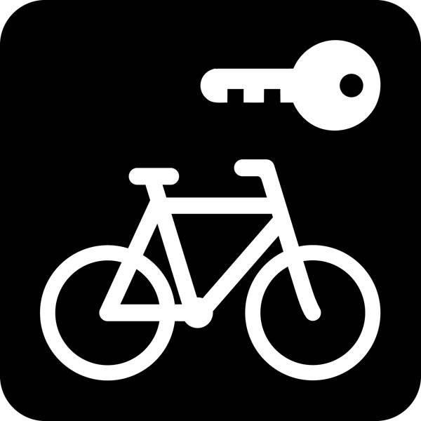 Aflåst cykel - Piktogram skilt