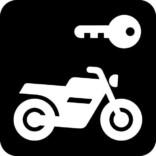 Aflåst motorcykel - Piktogram skilt