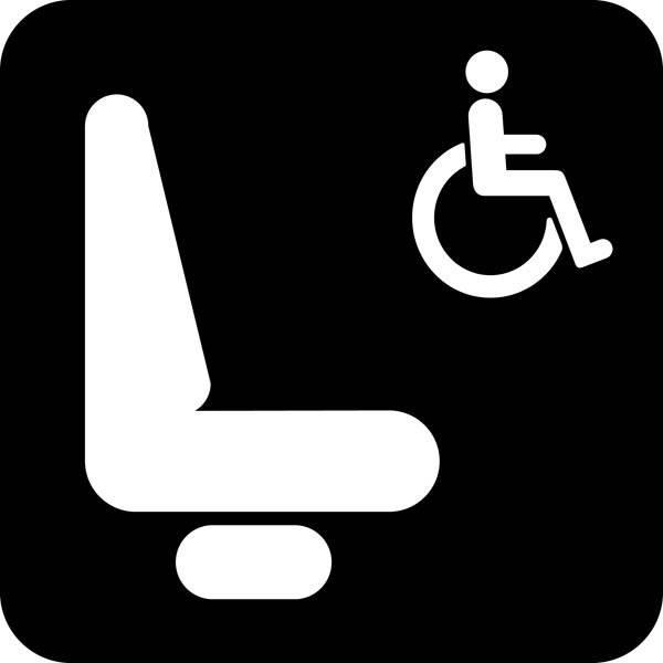 Handicapplads Piktogram skilt