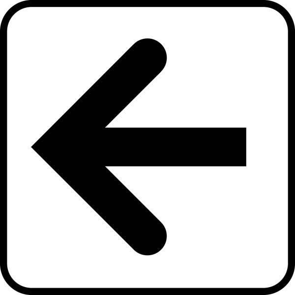 Pil. Piktogram skilt