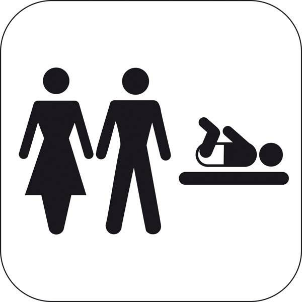Dame Mand Baby. Piktogram skilt