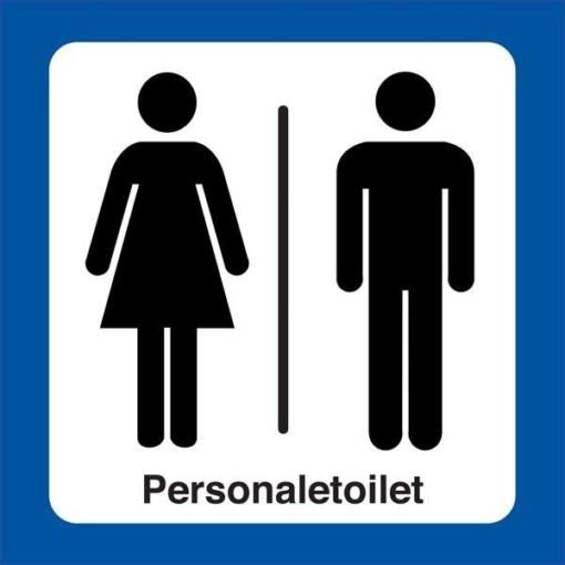Dame  mand Personaletoilet. Toiletskilt