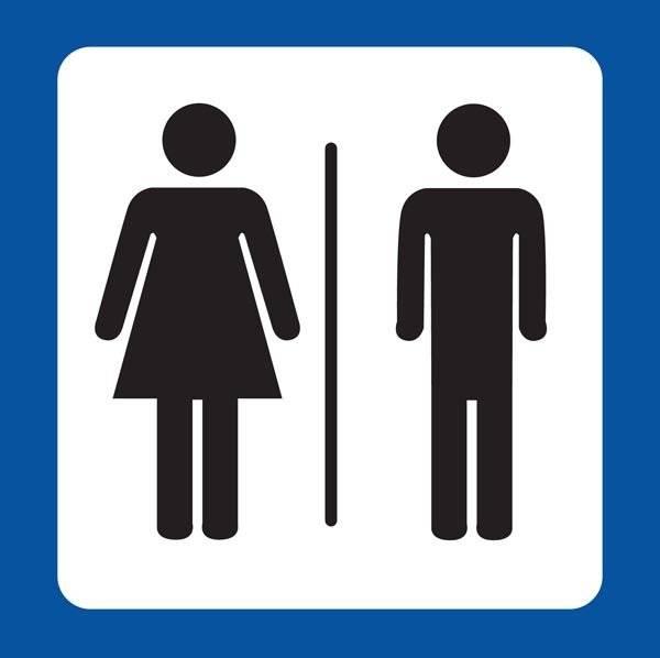 Dame mand Toilet Piktogram skilt