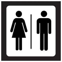 Toilet skilte