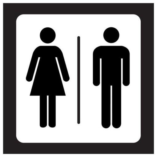 Dame  mand Toilet Piktogram. Toiletskilt