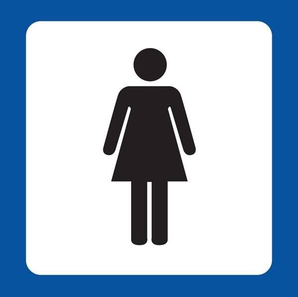 Dame Toilet Piktogram skilt