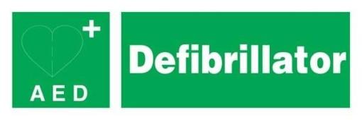 Defibrillator Redningsskilte.