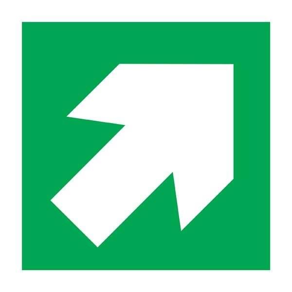 Diagonal Arrow Redningsskilt