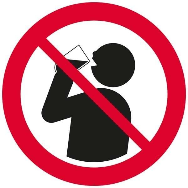 Drikkeforbudsskilt forbudstavle