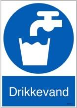 Drikkevand. Påbudsskilt