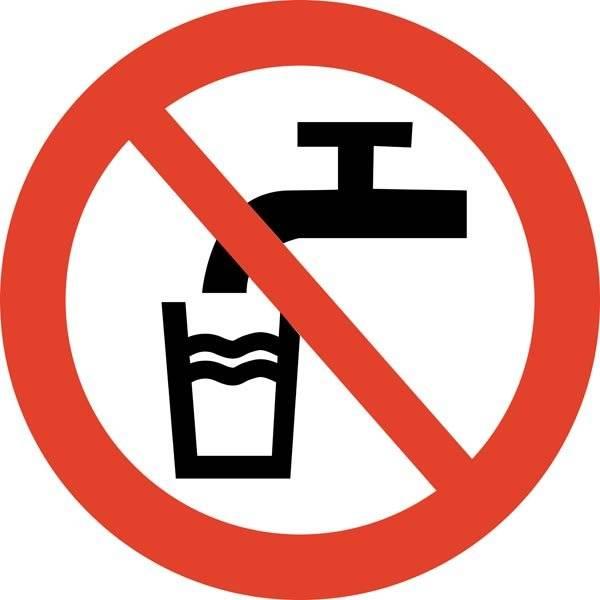 Ikke drikkevand skilt