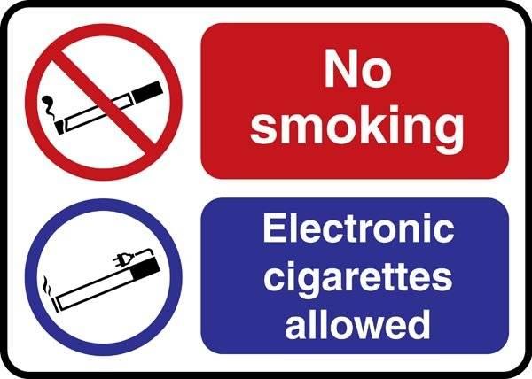 No smoking E-Cigarette. Rygeforbudsskilt