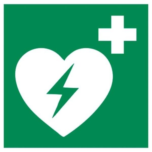 E010 ISO 7010 Hjertestarter. skilt