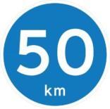 Påbudsskilt - 50 km