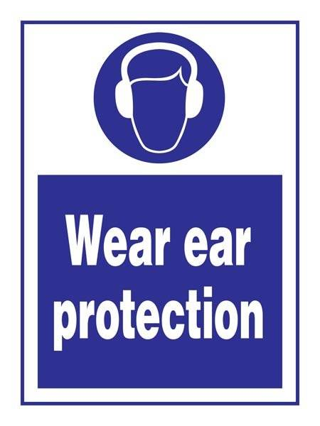 Ear Protection Must Be Worn: Påbudsskilt