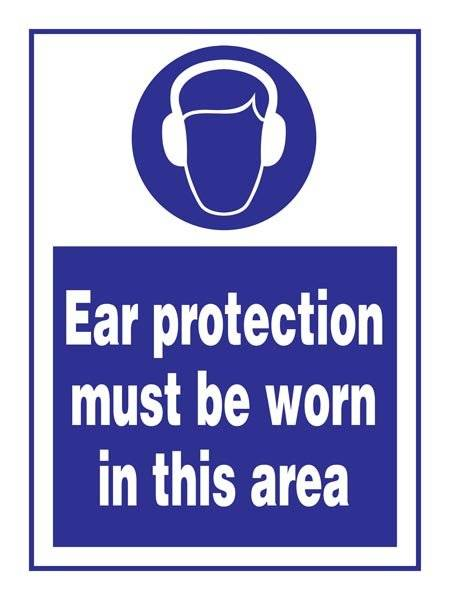 Ear Protection Must Be Worn In This Area: Påbudsskilt
