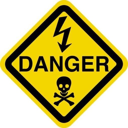 El Danger. Advarselsskilt
