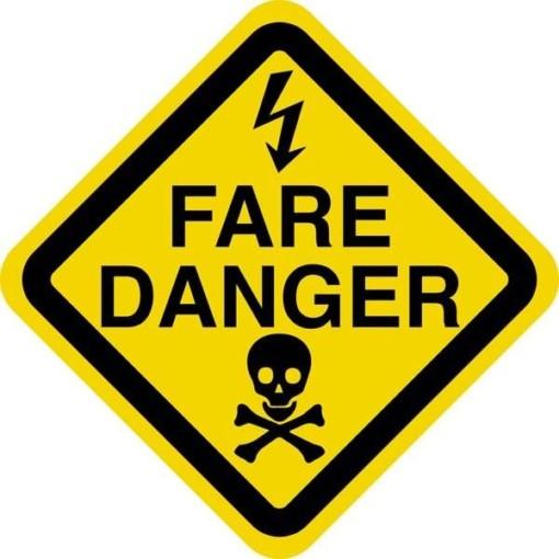 Fare Danger. Advarselsskilt
