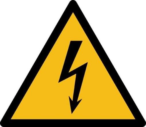 Elektrisk spænding ISO_7010_W012. Advarselsskilt