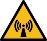 Elektromagnetisk felt fare ISO_7010_W005. Advarselsskilt