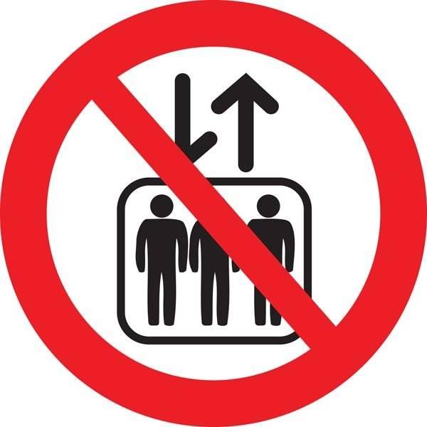 Elevator forbud skilt
