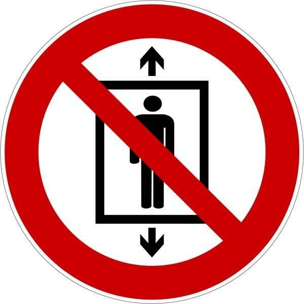 Elevator forbudt Skilt