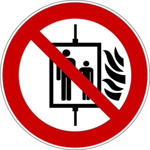 Elevatorforbud ved ild Skilt