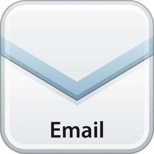 Email logo. Piktogram skilt