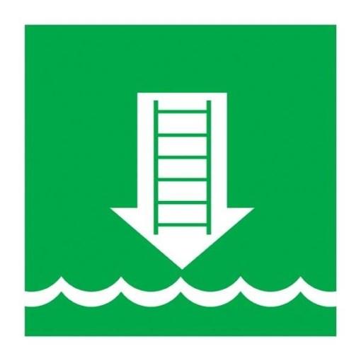 Embarkation ladder Redningsskilt