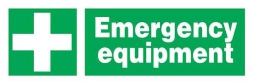 Emergency Equipment Redningsskilte.