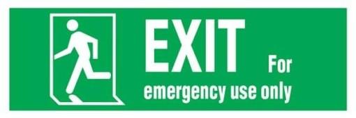 Emergency Exit-run Man Left Redningsskilte.
