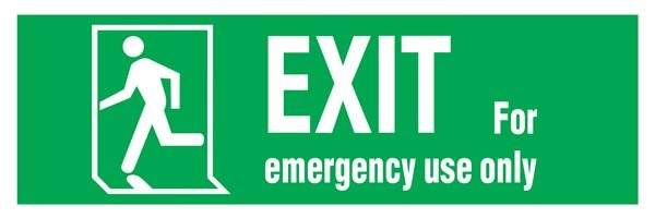 Emergency Exit-run Man Left Redningsskilte.