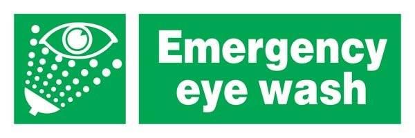 Emergency Eye Wash Redningsskilte.